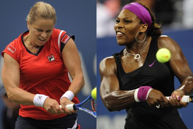 Kim Clijsters et Serena Williams vont s'affronter jeudi... (Photos: AFP)