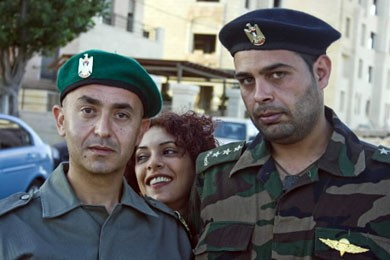 Khaled al-Masri, Manal Awad et Imad Farajin, les... (Photo AFP)