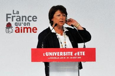 Martine Aubry.... (Photo AFP)