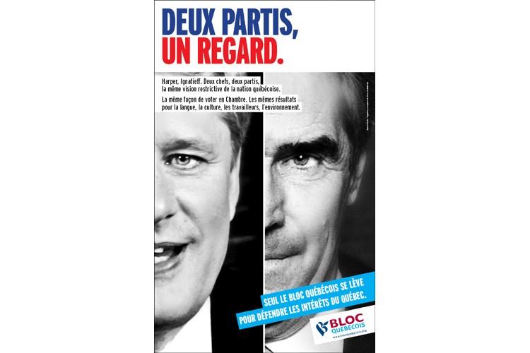 La nouvelle publicité du Bloc québécois....