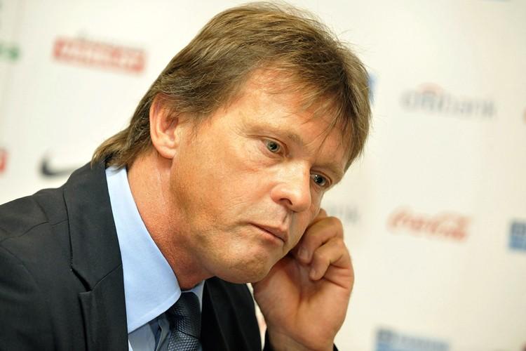 Le sélectionneur de l'équipe de Belgique, Franky Vercauteren... (Photo: AFP)
