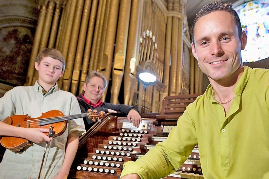 À la tribune de l'orgue de Saint-Nom-de-Jésus, hier:... (Photo: Alain Roberge, La Presse)