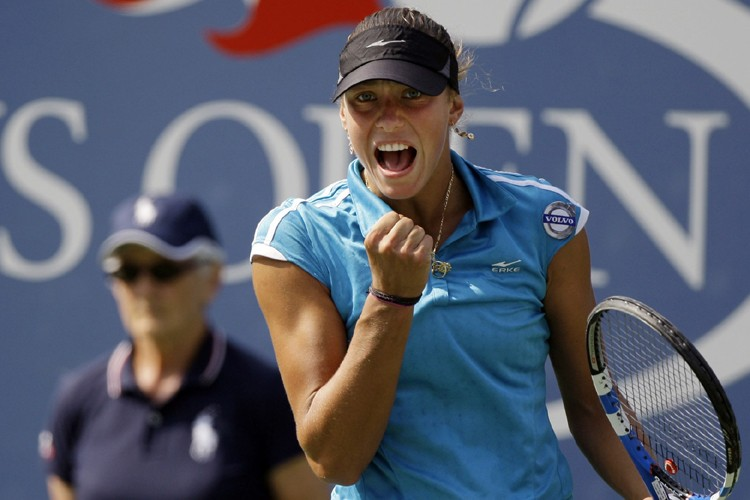 Yanina Wickmayer... (Photo: AFP)