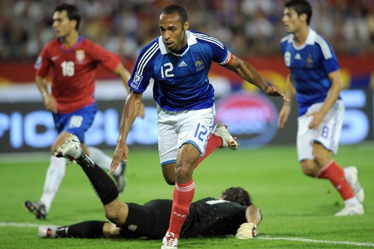 Thierry Henry a marqué son 50e but en... (Photo: AFP)