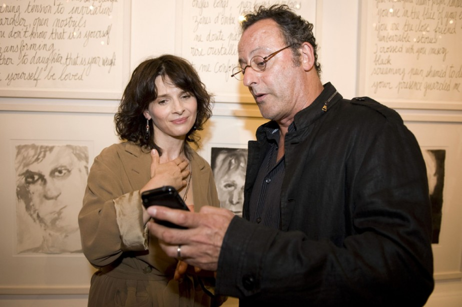 Juliette Binoche a retrouvé son compatriote Jean Reno... (Photo: AFP)