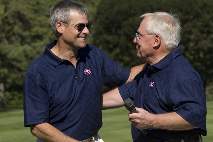 Le président du Canadien, Pierre Boivin, et l'ex-propriétaire... (Photo: Robert Skinner, La Presse)