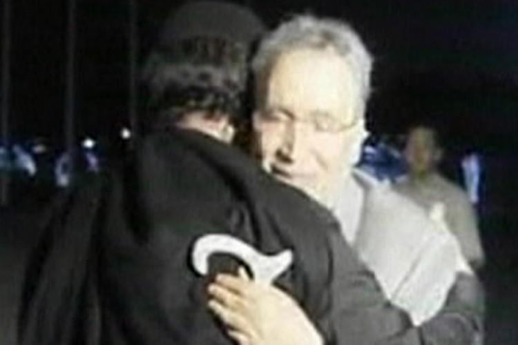 Abdelbaset al-Megrahi à son arrivée en Libye.... (Photo: Reuters/NASA)