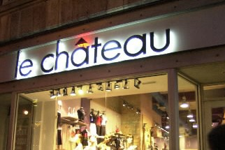 Le détaillant de vêtements Le Château( (Photo: Archives La Presse)