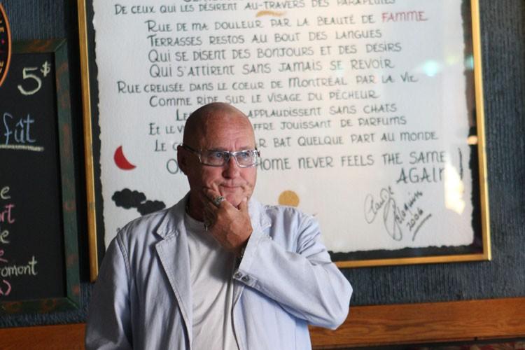 Claude Péloquin a lumercredi son poème Nipi dans... (Photo: Martin Chamberland, La Presse)