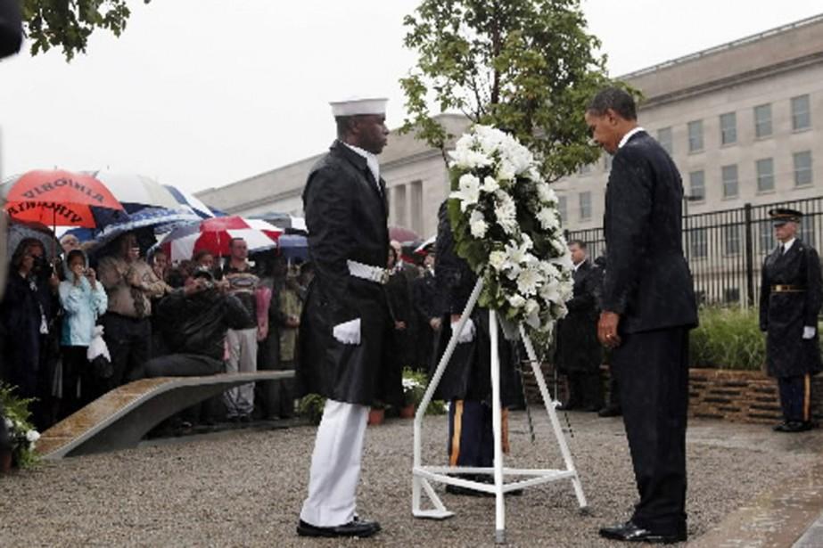 Barack Obama était au Pentagone vendredi matin pour... (Photo AP)