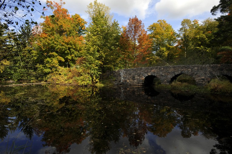 Dans le parc du Mont Saint-Bruno... (Photo: La Presse)