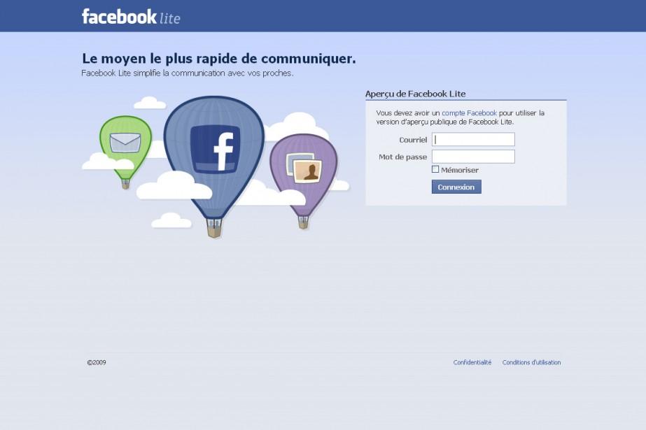 Facebook Lite...