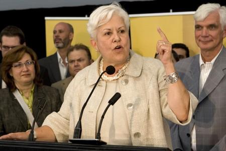 La chef de Vision Montréal, Louise Harel... (Photo: Robert Skinner, La Presse)