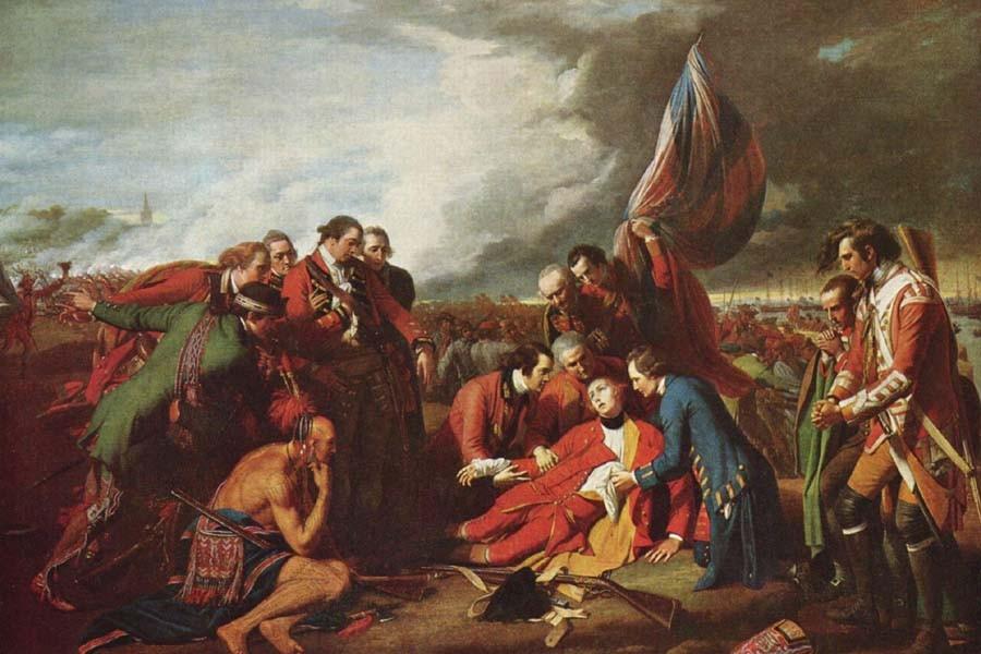La mort du général Wolfe, par Benjamin West.... (Photo: Archives militaires du Canada)