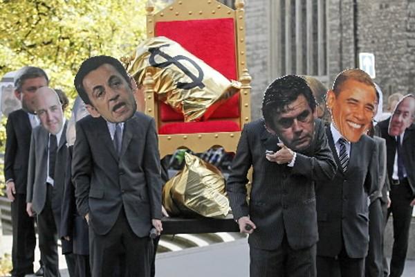 Des opposants au G20 ont manifesté lors d'une... (Photo: AFP)