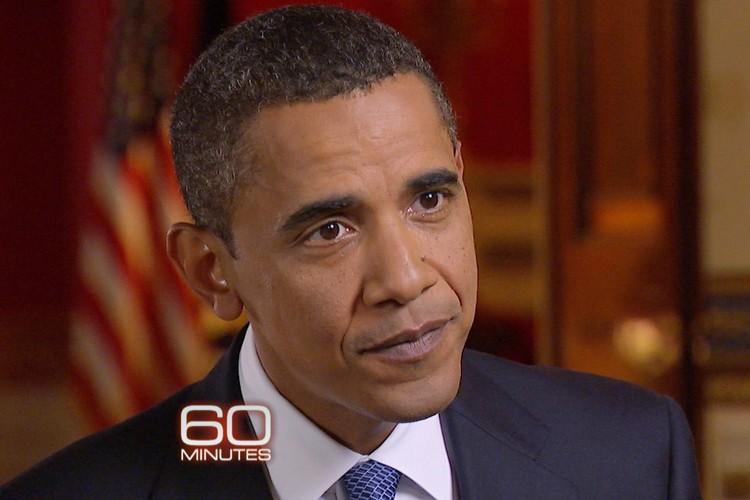 Barack Obama en entrevue à l'émission 60 Minutes.... (Photo: AP/CBS)
