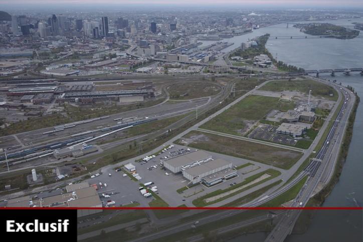 Vue aérienne de l'arrivée de l'autoroute Bonaventure à... (Archives La Presse)