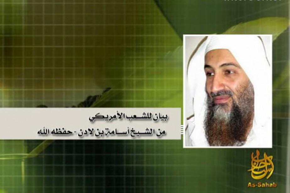 Oussama Ben Laden, dans sa plus récente apparition... (Photo IntelCenter)