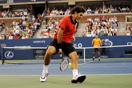 Roger Federer a réussi un coup de magicien... (Photo: AFP)