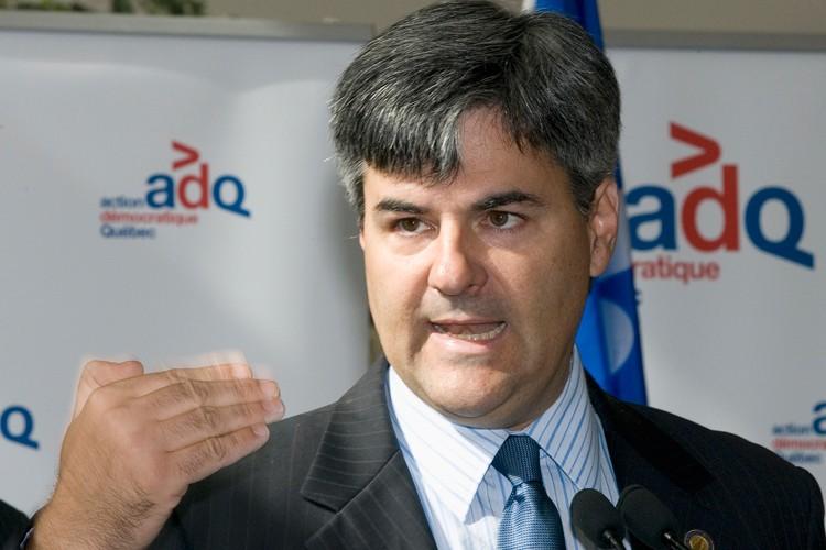 Le candidat à la directiond de l'ADQ, Éric... (La Presse Canadienne)