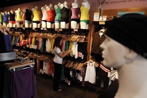 La boutique  Lululemon sur la rue St-Denis... (Photo: Martin Chamberland, La Presse)