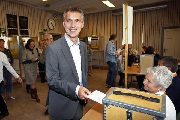 La coalition de gauche, menée par Jens Stoltenberg,... (Photo: AFP)
