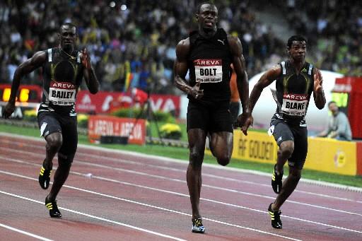 Deux des quatres athlètes suspendus, dont Yohan Blake,... (Photo AFP)