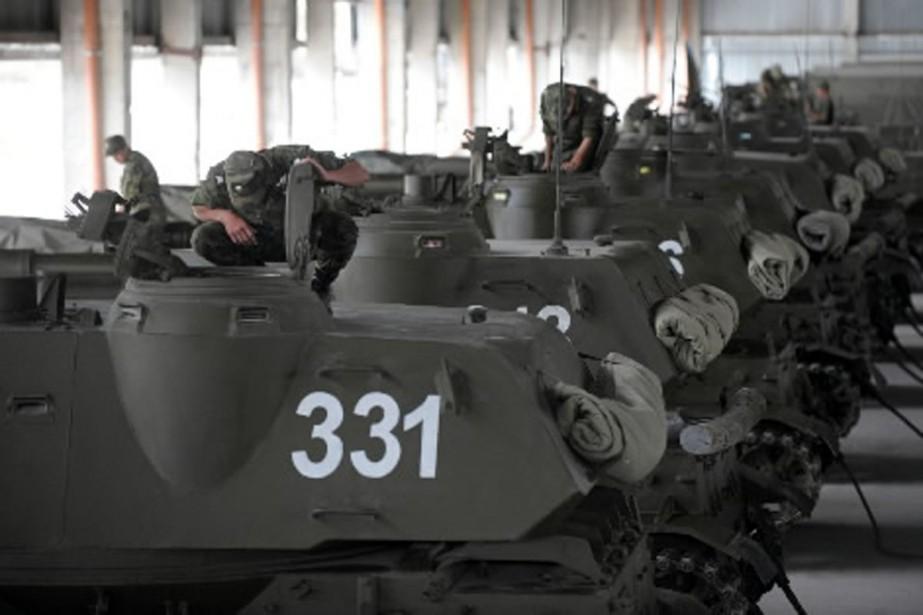 Quelque 3400 soldats russes pourront être postés en... (Photo AFP)