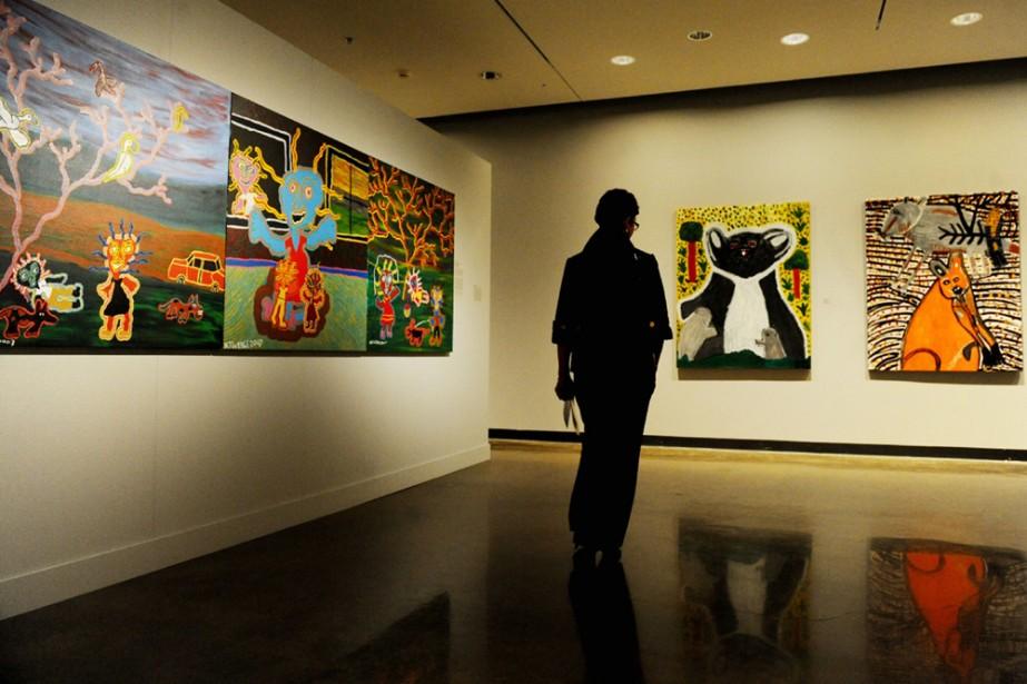 Des toiles exposées en Australie.... (Photo: AFP)