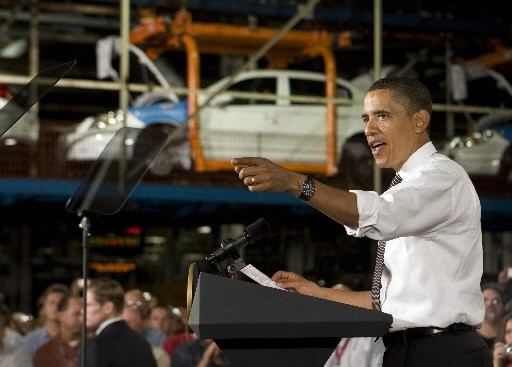 Barack Obama a rencontré des ouvriers d'une usine... (Reuters)