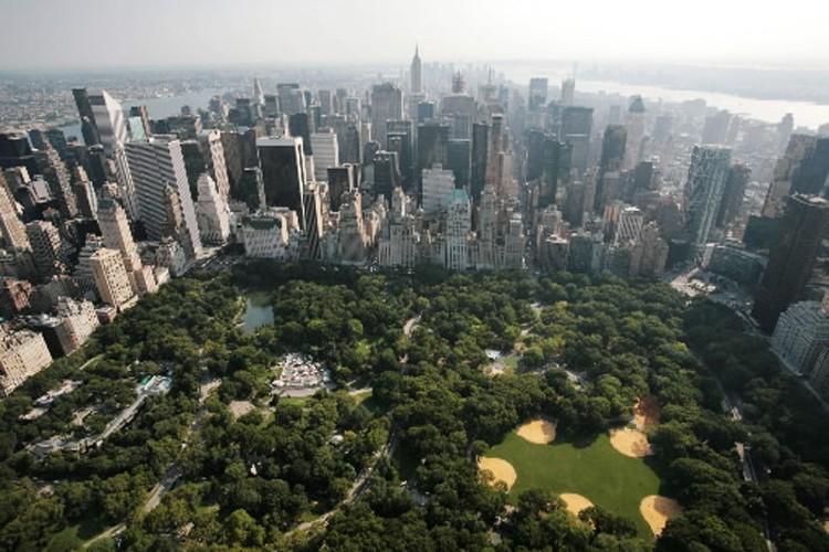 Vue aérienne de Central Park, à New York.... (Photo: AP)
