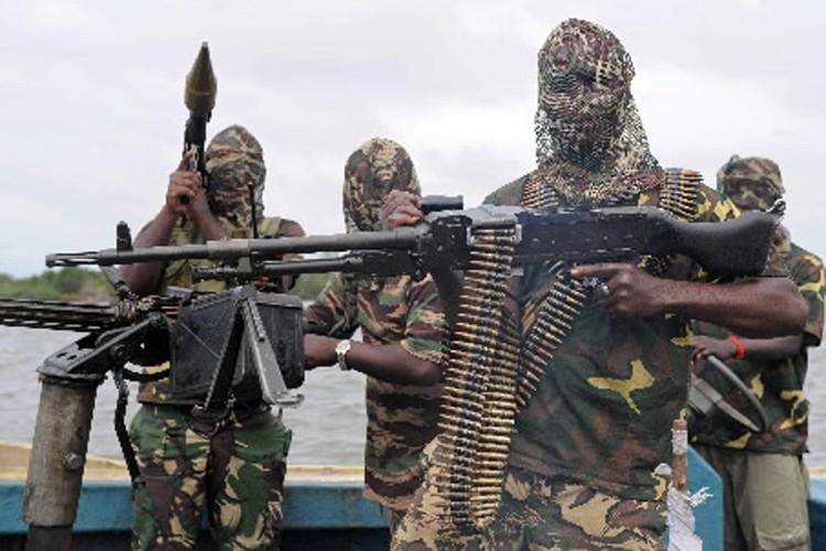 Des membres du groupe armé Mend.... (Photo: Archives AFP)