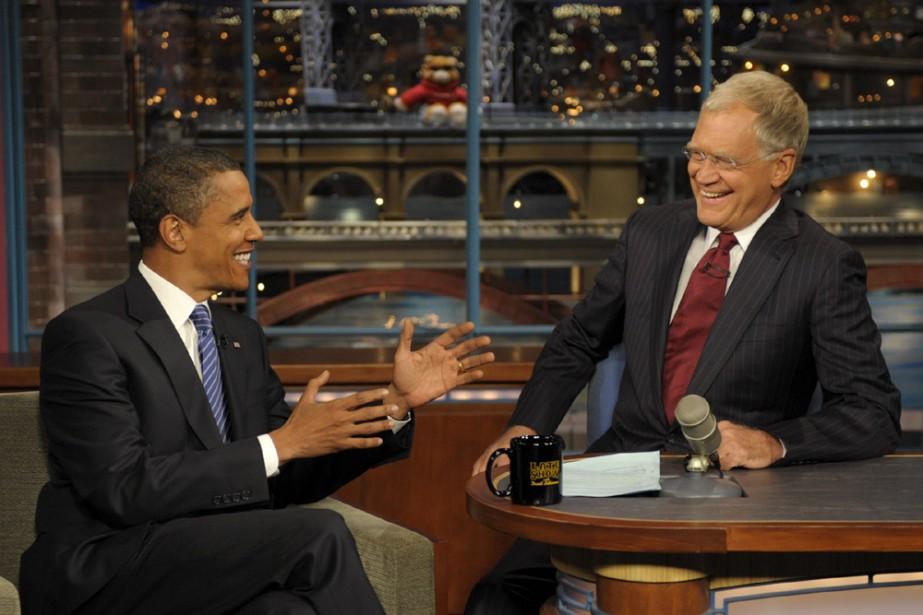 Le président des États-Unis, Barack Obama, rendra visite à David Letterman,...