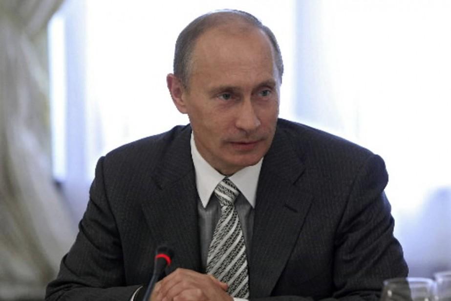 Le premier ministre russe, Vladimir Poutine, se présente... (Photo AFP)
