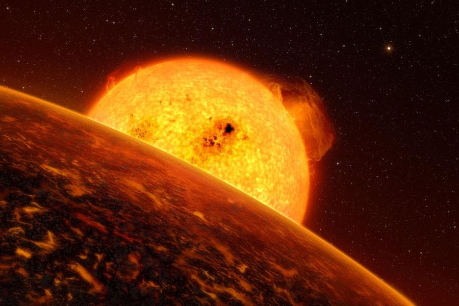 L'exoplanète Corot-7b illustrée par un artiste.... (Photo: AFP)