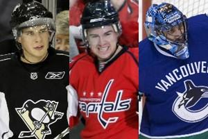 Sidney Crosby, Mike Green et Roberto Luongo... (Photos: AP)