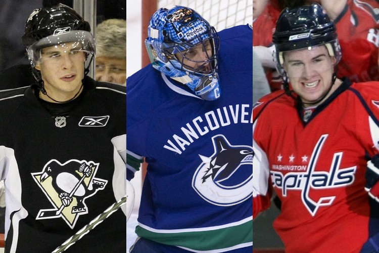 Sidney Crosby, Roberto Luongo et Mike Green... (Photos: AP)