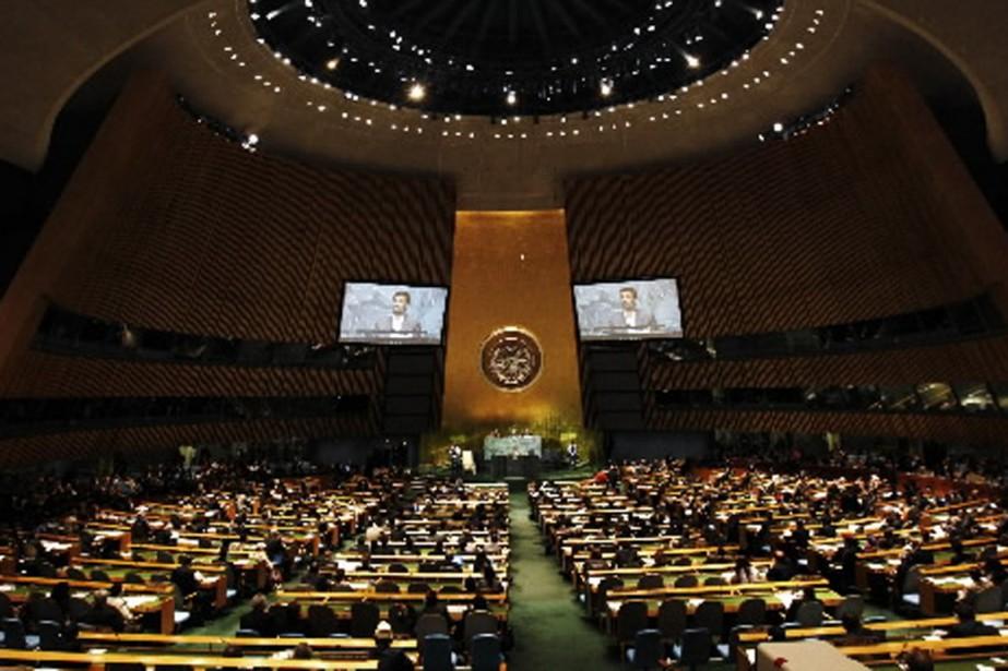 La salle de l'Assemblée générale de l'ONU.... (Photo archives AP)