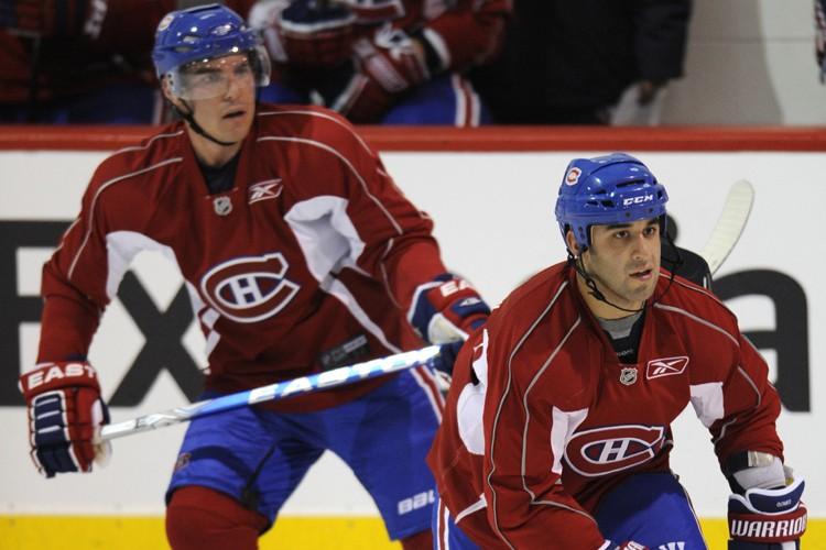 Mike Cammalleri et Scott Gomez disputeront leur premier... (Photo: Bernard Brault, La Presse)