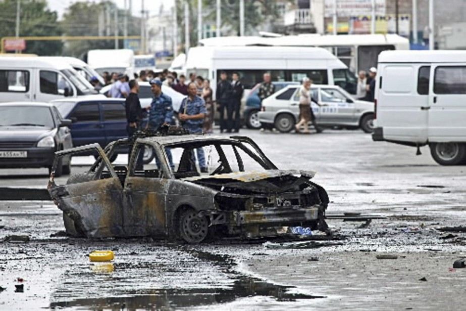 L'explosion de la bombe a fait huit blessés.... (Photo Reuters)