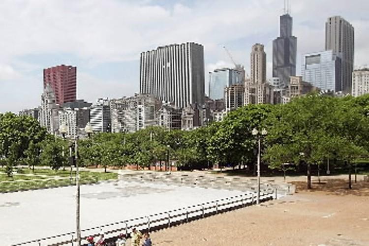 Vue sur le centre-ville de Chicago.... (Photo: Bloomberg)