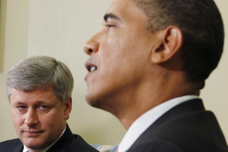 Le premier ministre Stephen Harper a discuté durant... (Photo: AP)