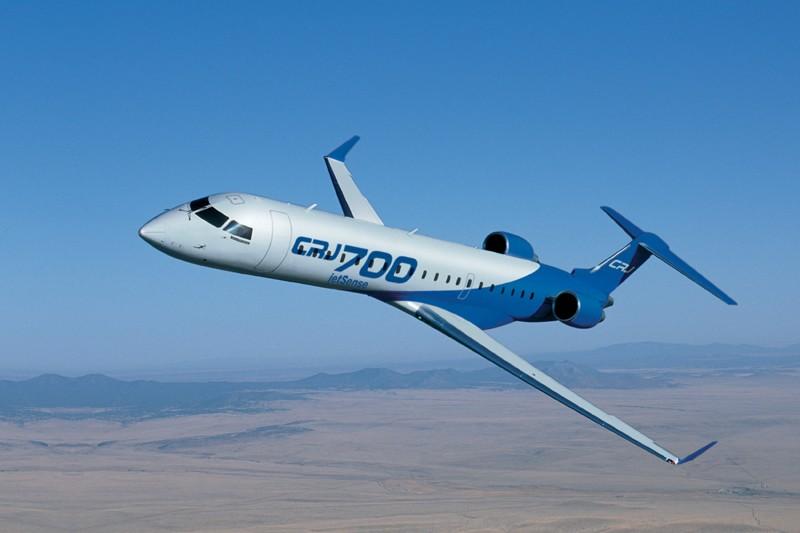 Un jet régional CRJ-700 de Bombardier.... (Photo fournie par Bombardier)