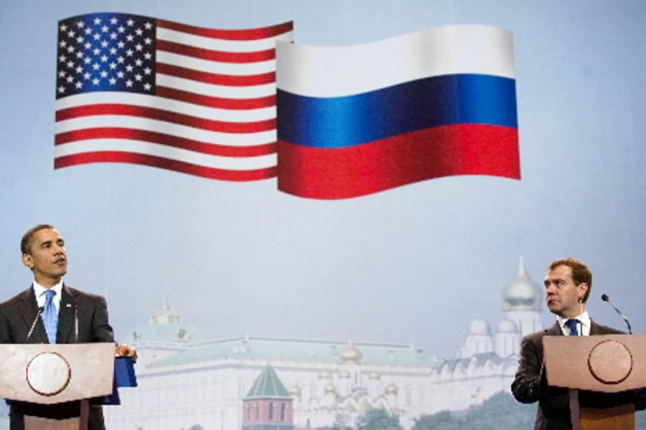Le président américain Barack Obama et son homologue... (Photo AFP)