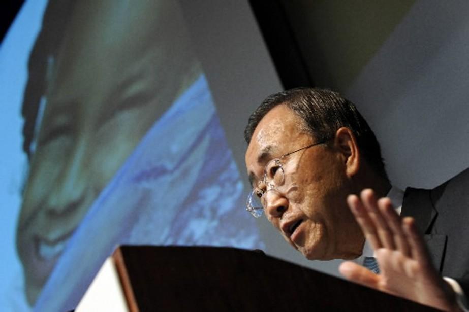 Le secrétaire général de l'ONU Ban Ki-moon est... (Photo AFP)