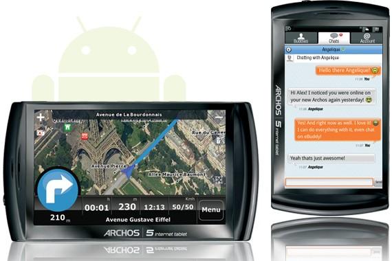L'Archos 5 Internet Tablet.... (Photo Archos)