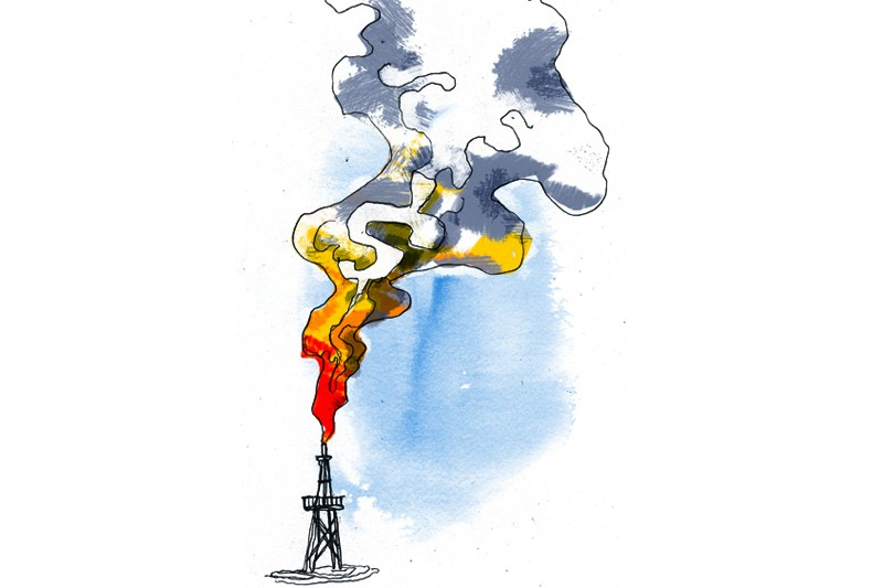 Les explorateurs de gaz naturel ont... (Illustration André Rivest, La Presse)