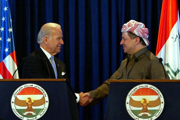Joe Biden s'Est entretenuavec le président du Kurdistan... (Photo: Reuters)