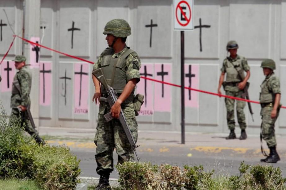 Deux policiers mexicains ont été abattus le 15... (Photo AFP)