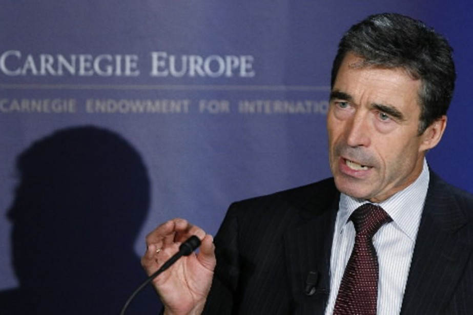 Le secrétaire général de l'OTAN, Anders Fogh Rasmussen.... (Photo Reuters)